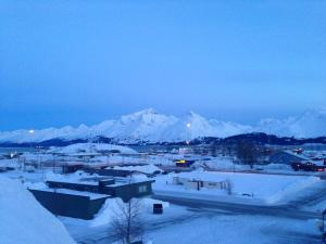 Valdez, as seen from the top of one of countless 40-plus-foot snow mounds in the center of town.