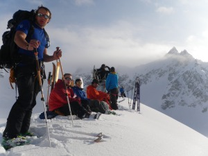 On the summit of Ama Dablam II.