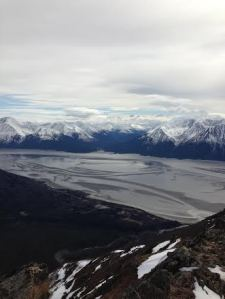 The Chugach Range makes a lovely backdrop for the Turnagain Arm.