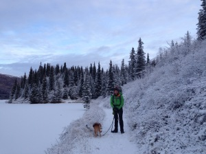 Post-Thanksgiving 2014 on the Resurrection Pass trail. So cold. But what did we expect backpacking in Alaska in November?