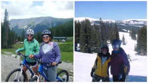 Copper Mountain, in winter and summer 2010.