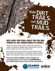CRAMBA_Ride_Dirt_Trails_Not_Mud_Trails_Poster